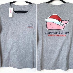 Vineyard Vines | Christmas Long Sleeve T-shirt